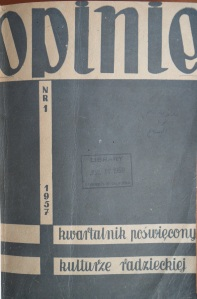 Opinie, First issue, 1957